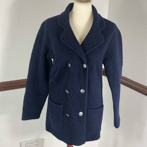 Talbots Petite Sweater Peacoat Size SP